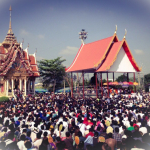 Masses of Devotees attend the Tattoo festival of Wat Bang Pra each year