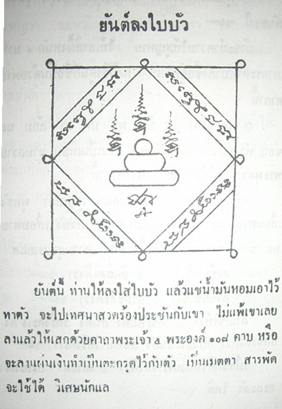 Yant Long Bai Bua - Lotus Leaf Yantra