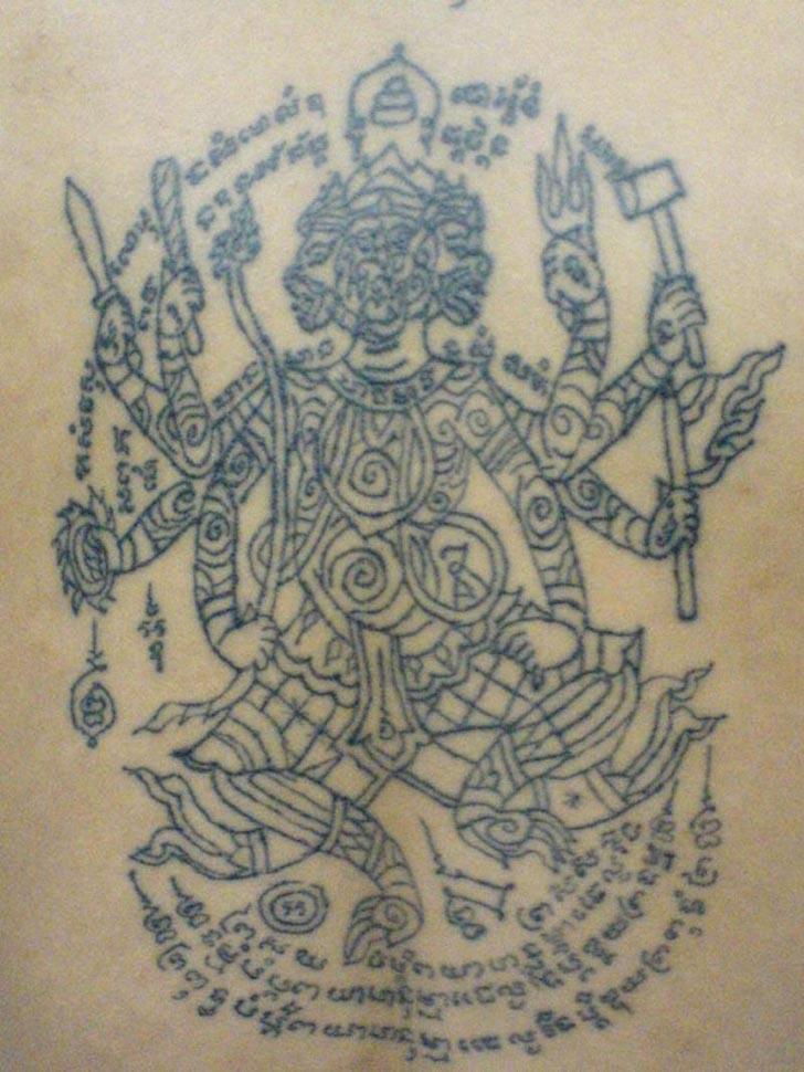 sak yant thai temple tattoos 493. Black Bedroom Furniture Sets. Home Design Ideas