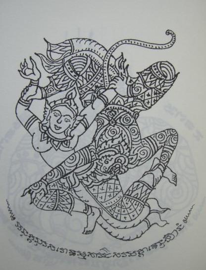 sak yant thai temple tattoos hanumangiawnangsupannamajcha. Black Bedroom Furniture Sets. Home Design Ideas