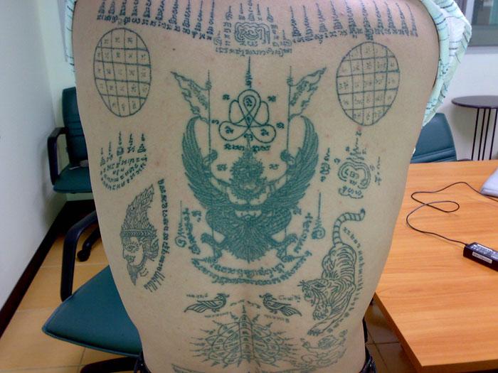 Sak yant thai temple tattoos ajarn terng kongton bkk for Sak yant tattoo rules