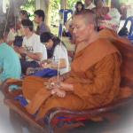 Praying in Ceremony - Luang Por Chanai