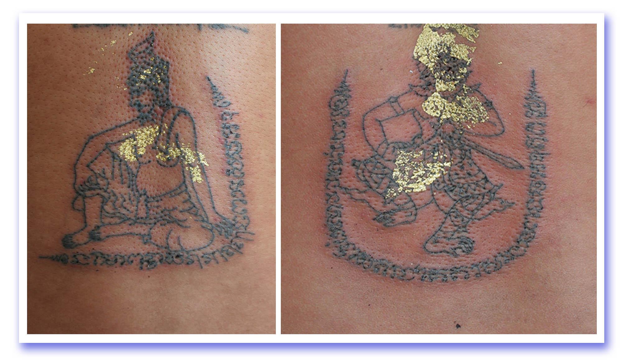 sak yant thai temple tattoos sak yant hanuman por gae. Black Bedroom Furniture Sets. Home Design Ideas
