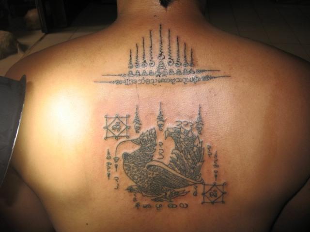 Sak yant thai temple tattoos gao yord and paya hongs tong for Sak yant tattoo rules