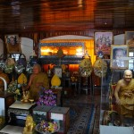 The Mummy of Luang Por Phern inside the Kuti at Wat Bang Pra - all devotees must first pay respects here before any Sak Yant. Afterwards is also necessary to visit his Presence and ask for Blessings