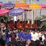 Monks under Parasols Wat bang Pra