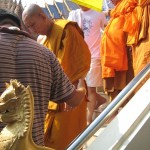 Descending from the Dais at Wat Bang Pra