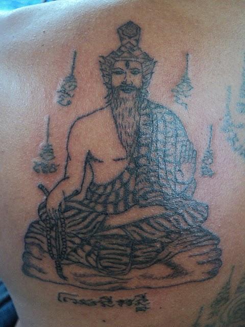 Sak yant thai temple tattoos sak yant por gae lersi for Sak yant tattoo rules