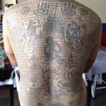 Sak Yant Tattoos Ajarn Jiak Po Dam Bangkok