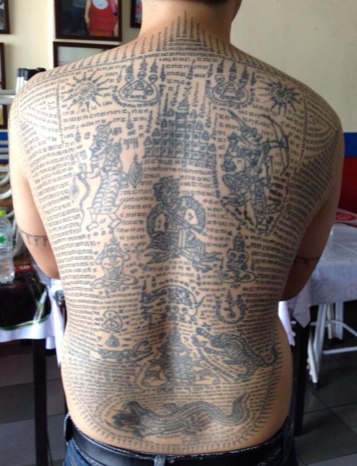 Sak Yant Thai Temple Tattoos | Sak Yant Tattoos Ajarn Jiak Po Dam ...